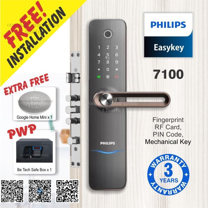 New Arrival)Philips 7100(Copper) Fingerprint Digital Security/Metal DL