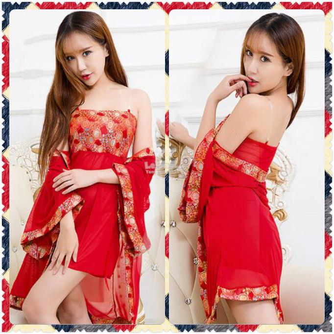 89f61d95649a New Arrival Robe Polyester Chinese Style Nightdress Lingerie Red FF66. ‹ ›