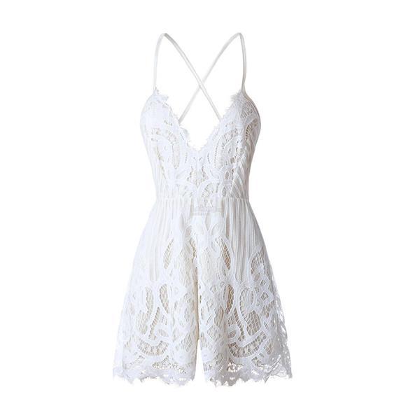 3b7c7d8dd1 New Arrival Women V Neck Strap Backless White Lace Sexy Sleepwear