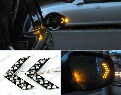 Arrow Panel 14 SMD LED For Car Side Mirror Turn Signal Indicator Light