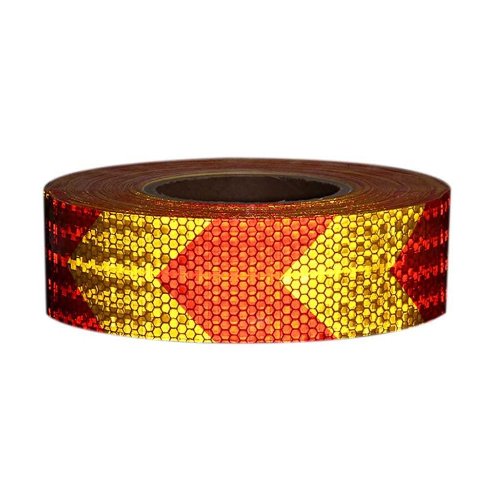 Arrow Safety Warning Conspicuity Reflective Tape Strip Sticker (Red  & Yellow)
