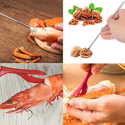 Artcome 21 Pcs Seafood Tools Set Nut Cracker Set includes 6 Crab Crackers, 6 F