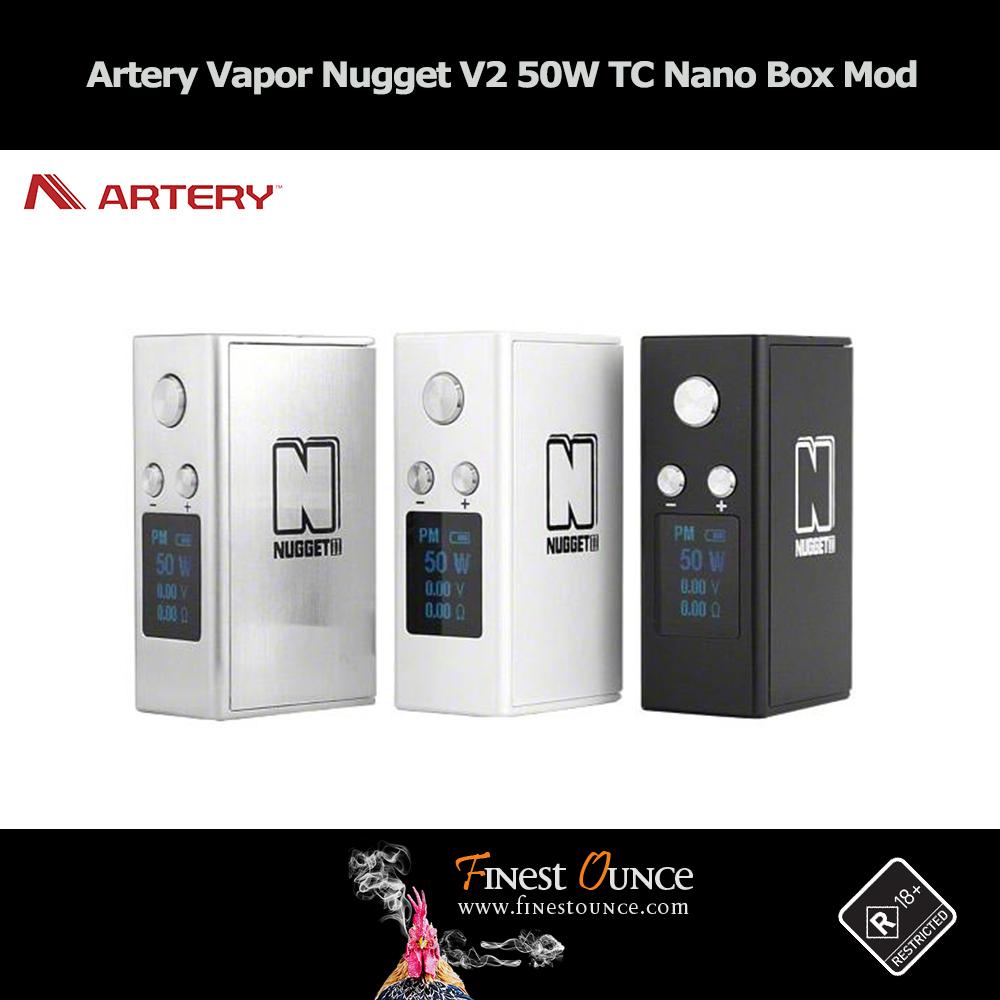 Artery Vapor Nugget V2 50W TC Nano Box Mod **Genuine