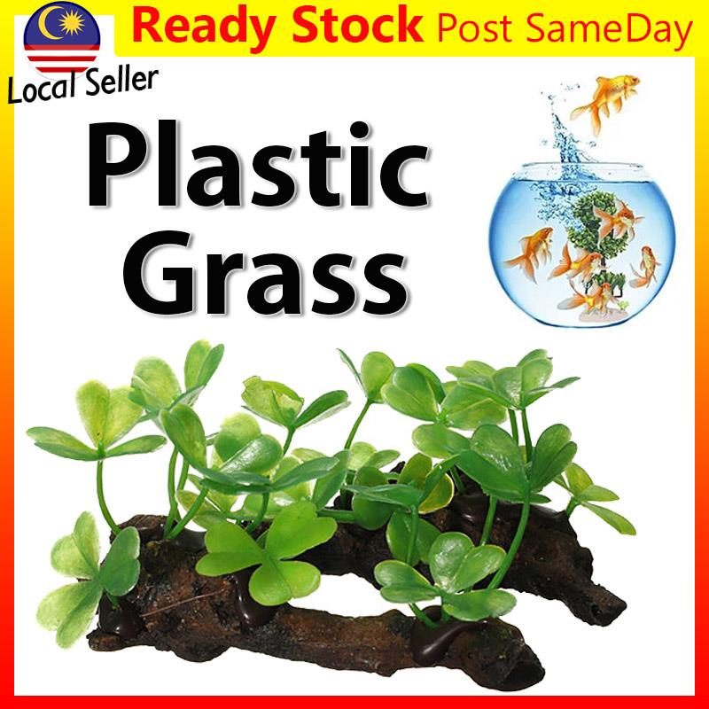 Artificial Fake Plastic Green Grass Plant Fish Tank Aquarium