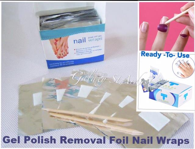 Artificial Nail Remover Pouch,Soak Off Glitter Gel Arcylic Enhancement