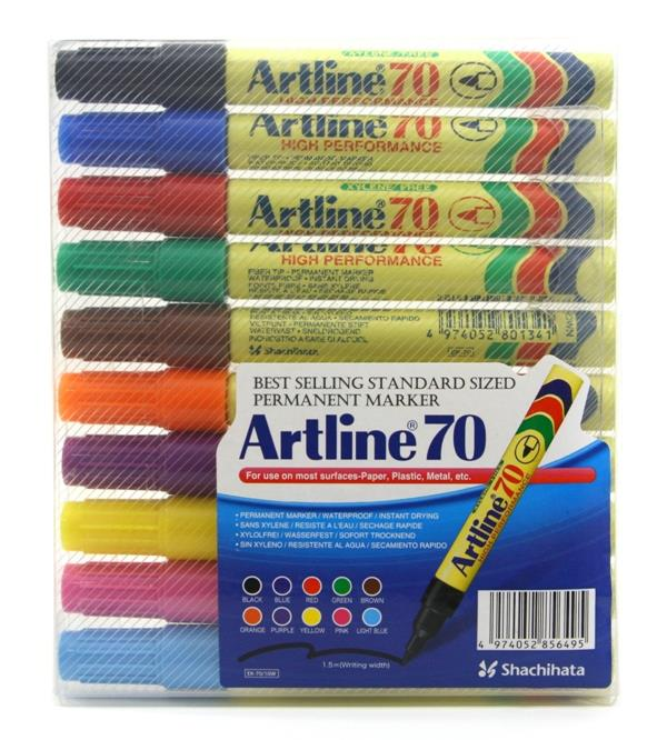 Artline 70 Marker Pen 10 Colours Set Color Set
