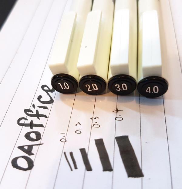 Artline Calligraphy Pens Pigment Ink Water Based Resistant
