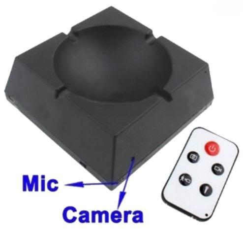 Ashtray Hidden Camera With Remote Control (DVR-60).