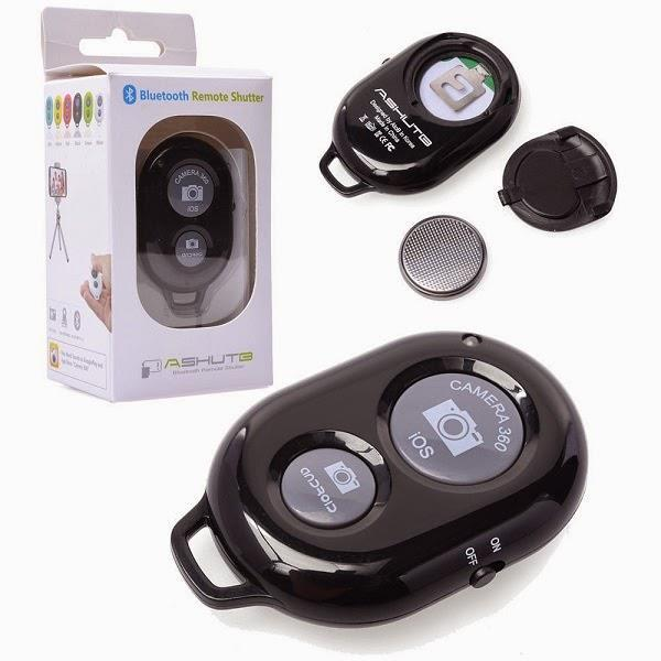 ASHUTB Bluetooth Wireless Remote Shutter IOS Android