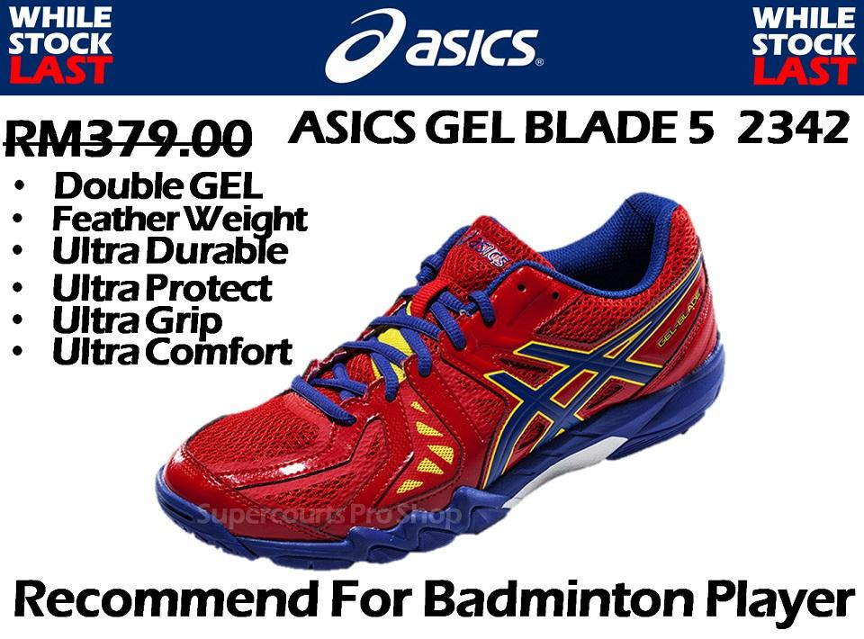 ASICS Gel Blade 5 2342 Badminton Shoe (Walk in RM303)