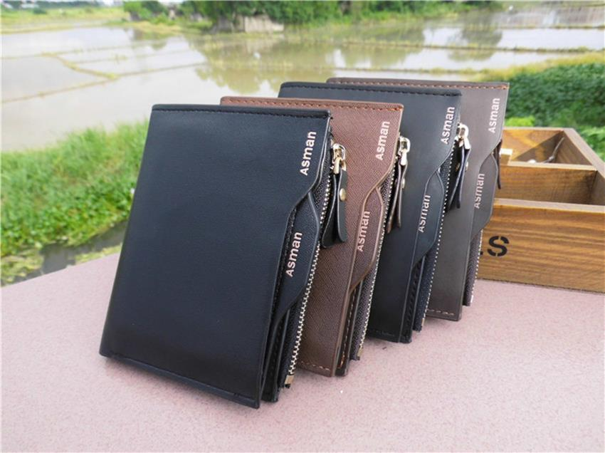 a8668a0ab1ec ASMAN Genuine Leather Men Short Wallet Pouch Coin Purse Card holder. ‹ ›