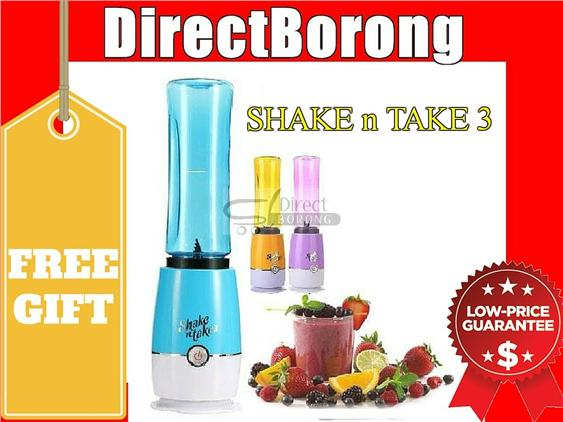 ASOTV 4 Shake & N Take 3- 2 Bottles Fruit Blender COLOR