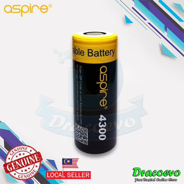 Aspire INR 26650 High Drain Li-ion Battery 40A 4300 mAH