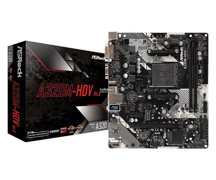 # ASROCK A320M-HDV R4 0 mATX Motherboard # AMD AM4