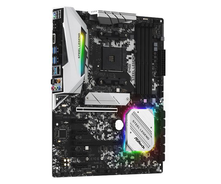 ASRock B450 Steel Legend AM4 AMD Promontory B450 ATX Motherboard