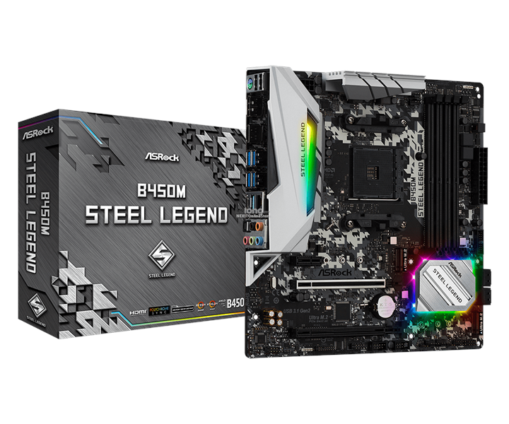 ASROCK B450M STEEL LEGEND SOCKET AM4 MAINBOARD