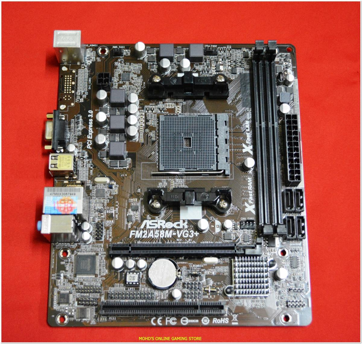 ASROCK FM2A58M-VG3+ MOTHERBOARD DRIVERS FOR WINDOWS 7