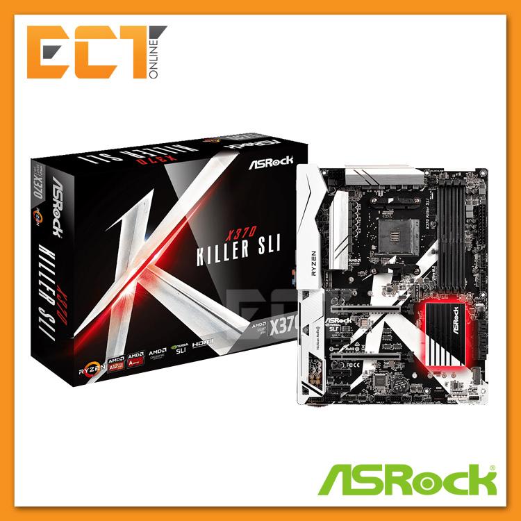 Asrock X370 Killer SLI AM4 Socket 6 PCI-E Slot ATX Form Factor Motherb