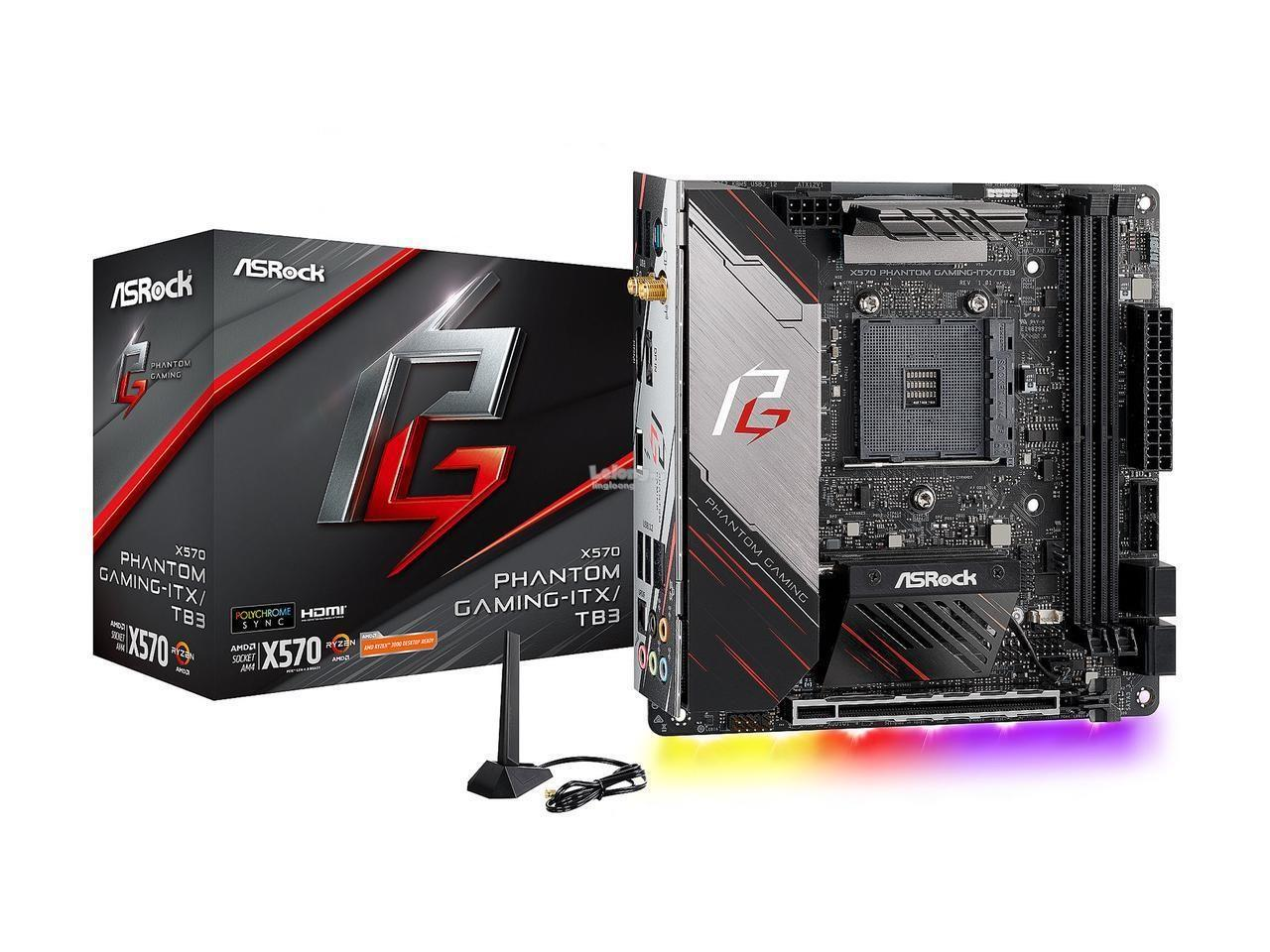 # ASROCK X570 Phantom Gaming-ITX/TB3 Motherboard # AMD AM4