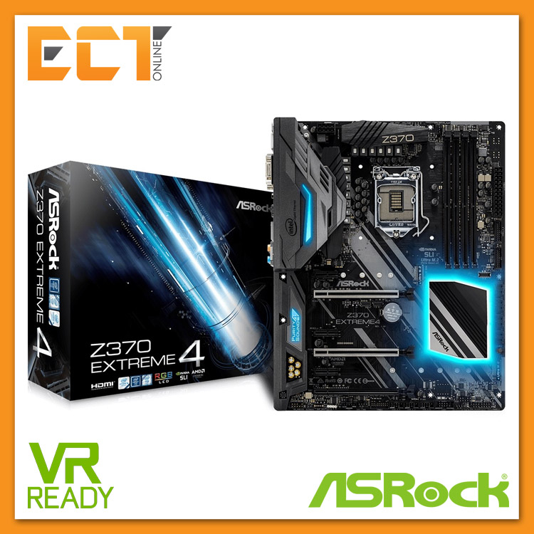 Asrock Z370 Extreme4 1151 Socket 6 PCI-E Slot ATX Form Factor Motherbo