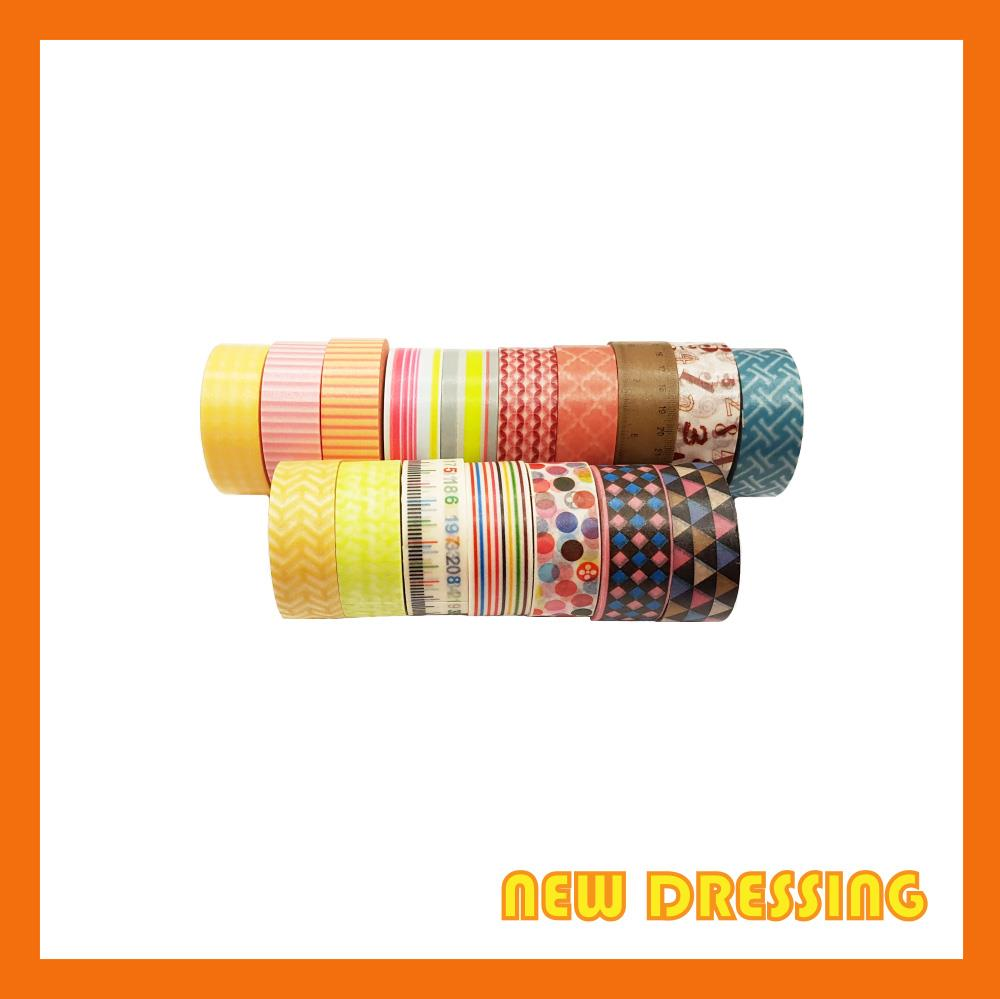 Assorted Pattern V3 (10 Rolls) Washi/Masking Tape - Zakka/Diary/DIY