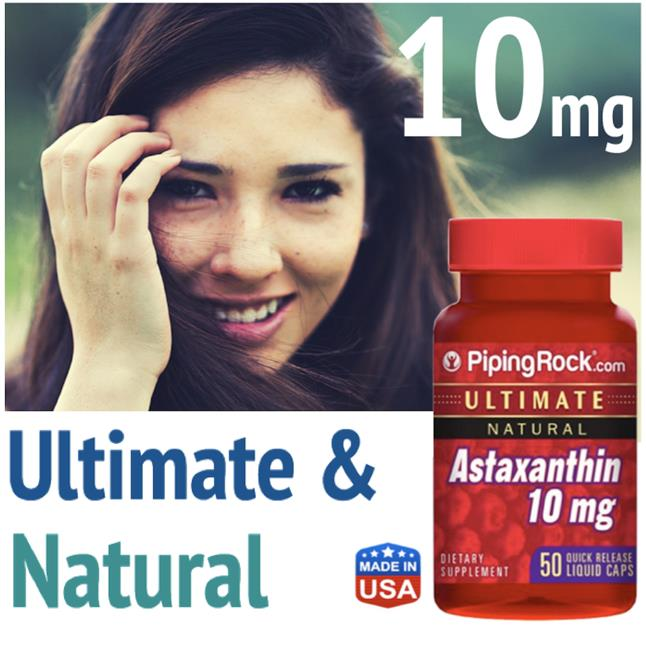 Astaxanthin 10mg, 50 Softgels, Ultimate & Natural, Anti-Oxident (USA)