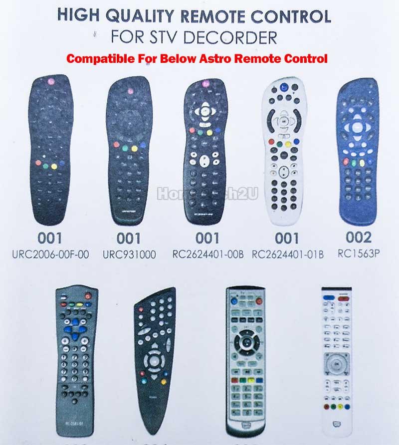 ASTRO REMOTE CONTROL COMPATIBLE FOR ASTRO BEYOND ASTRO PVR HYPP TV