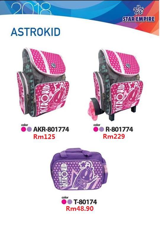 d733277f3b Astrokid 6 Wheels Trolley Kid School Bag Primary Backpack Lightweight