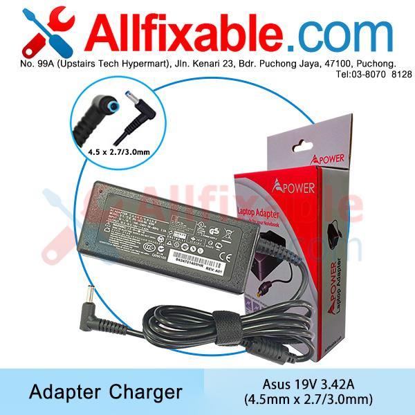 Asus 19V 3.42A Pro PU301LA PU401 PU401LA Laptop Adapter Charger