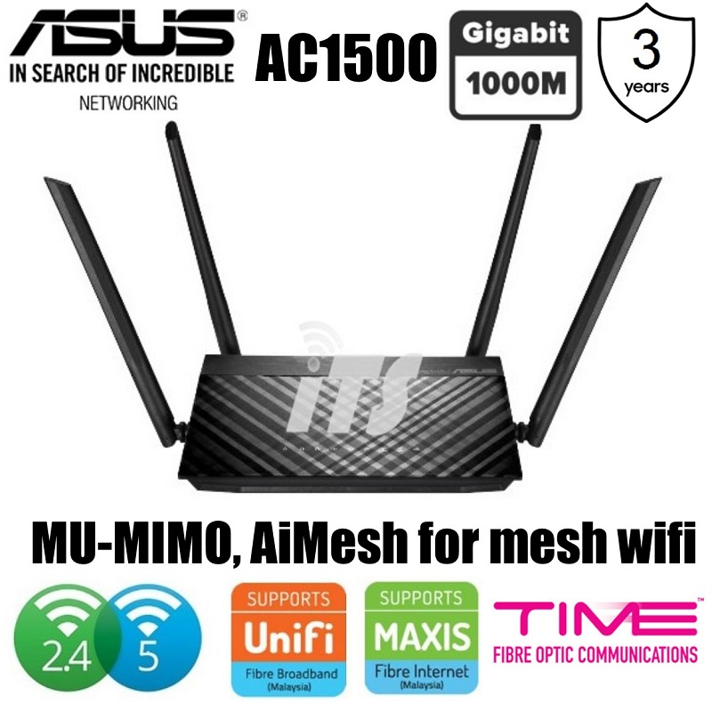 Asus AC1500 Dual Band Gigabit Router with MU-MIMO (RT-AC59U)