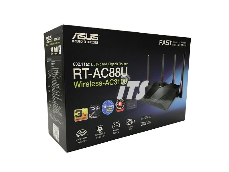Asus AC3100 Dual Band Gigabit WiFi Gaming Router with MU-MIMO (RT-AC88