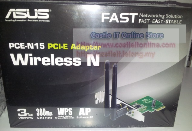 ASUS Adapter WiFi PCI-E N300MBPS (PCE-N15)
