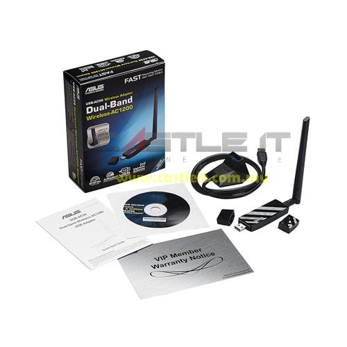 ASUS Adapter WiFi USB N300MBPS DUAL-BAND AC1300 (USB-AC56)