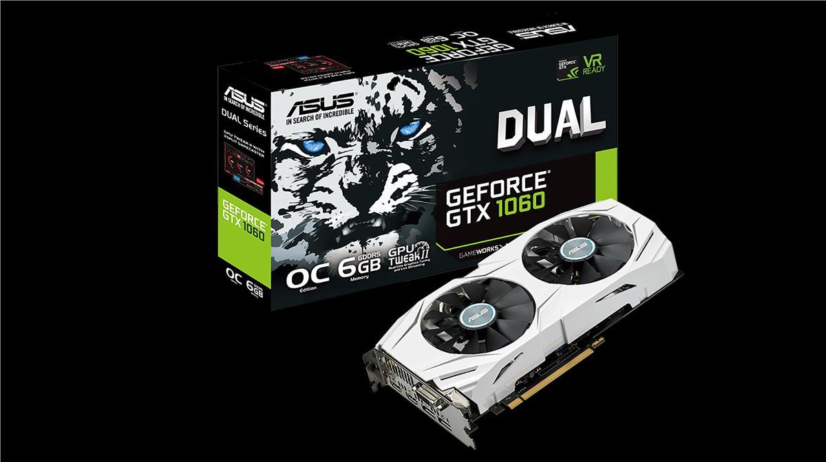 ASUS GeForce GTX 1060 6GB GDDR5 192-bit Overclock (DUAL-GTX1060-O6G)