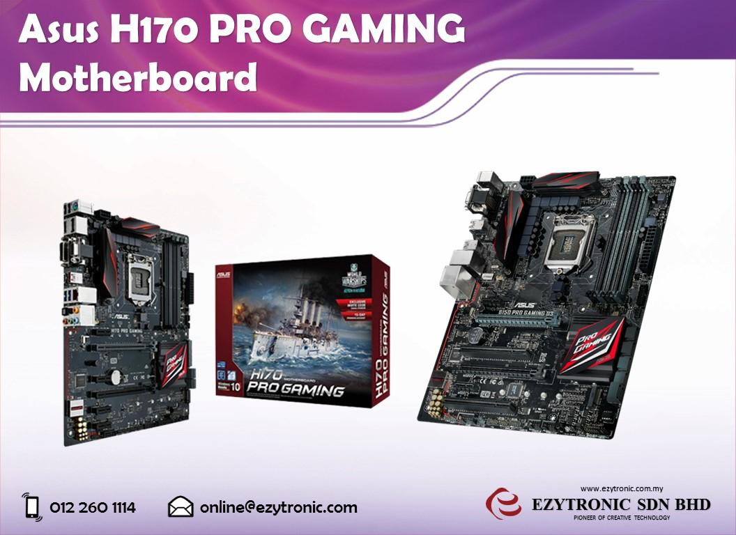 Asus H170 Pro Gaming Motherboard End 11 2016 215 Pm Asush170 Socket 1151 Lga Chipset Intel