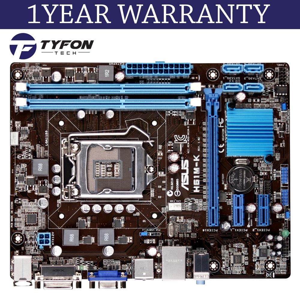 ASUS H61M-K LGA 1155 Motherboard (Refurbished)