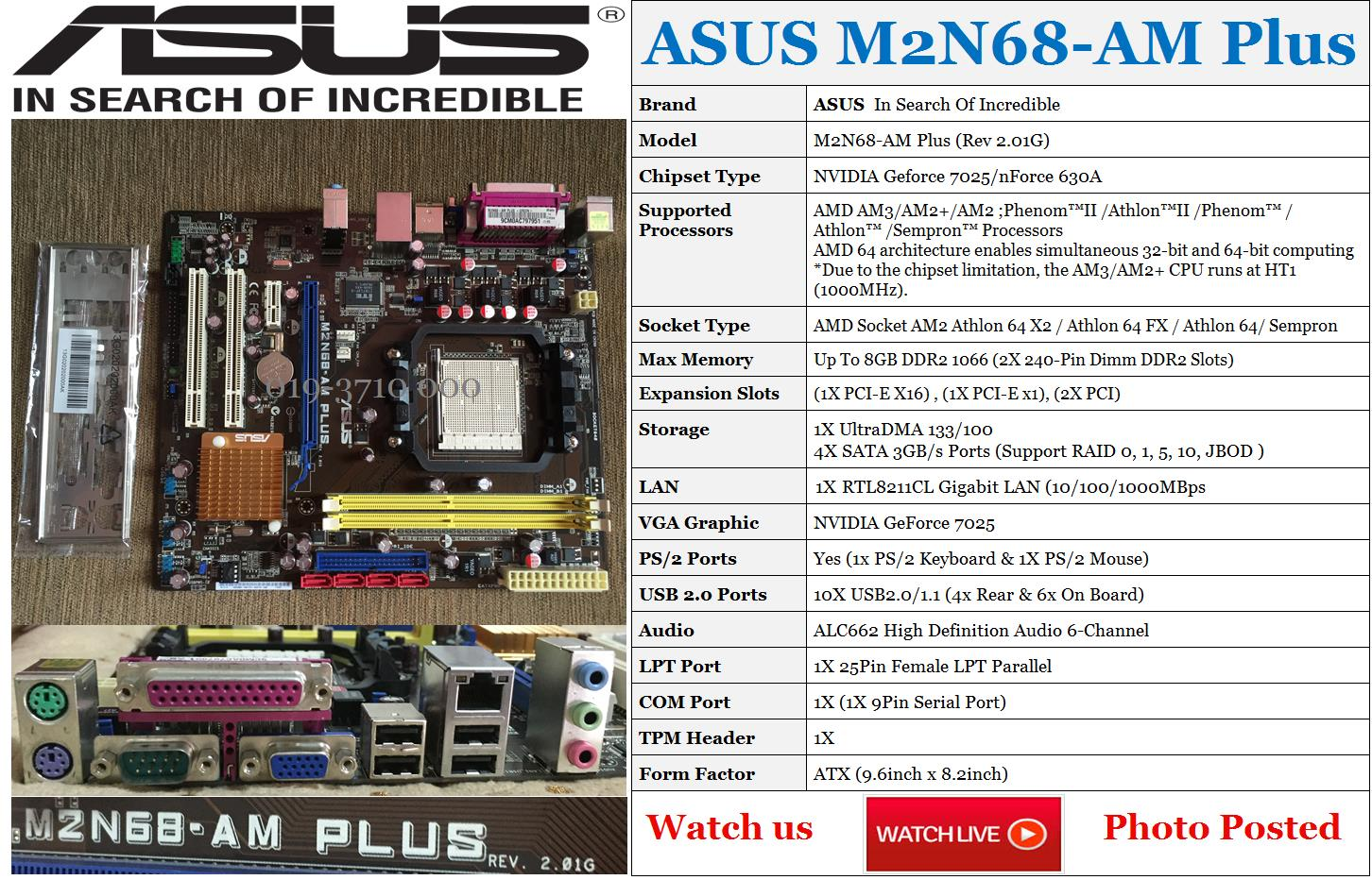 Asus M2n68 Am2   Am2 Nvidi  End 7  4  2019 4 03 Pm