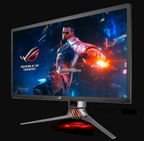 ASUS MONITOR GAMING ROG SWIFT FLAT IPS UHD 27'PG27UQ Aura Sync