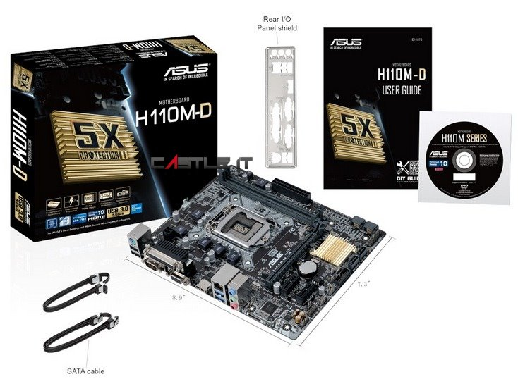 ASUS Motherboard INTEL Socket1151 H110M-D D4