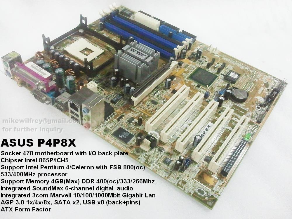 MOTHERBOARD P4P8X DRIVERS FOR WINDOWS 8