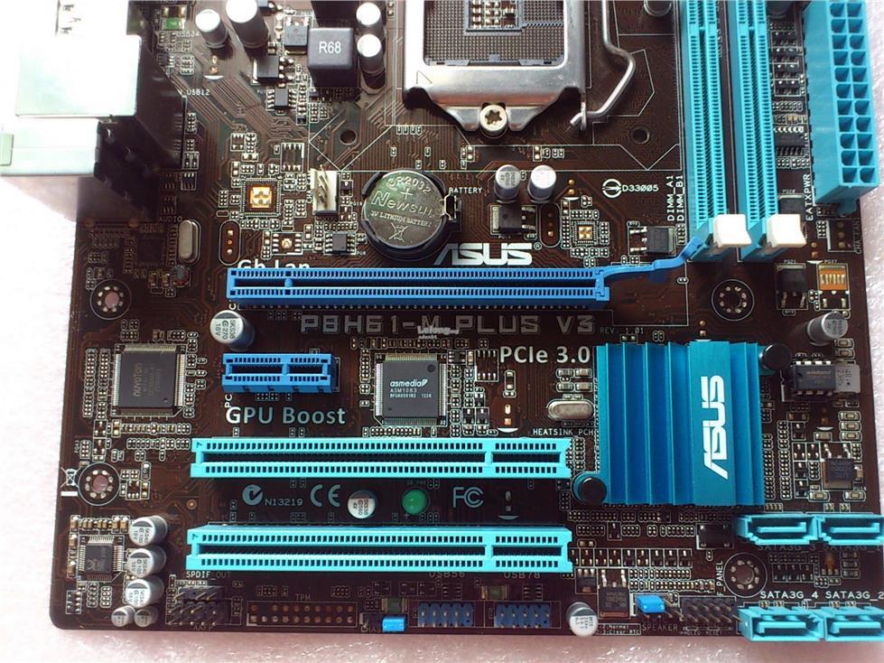 Asus P8H61-M PLUS V3 Socket 1155 PCIe 3 0 Motherboard