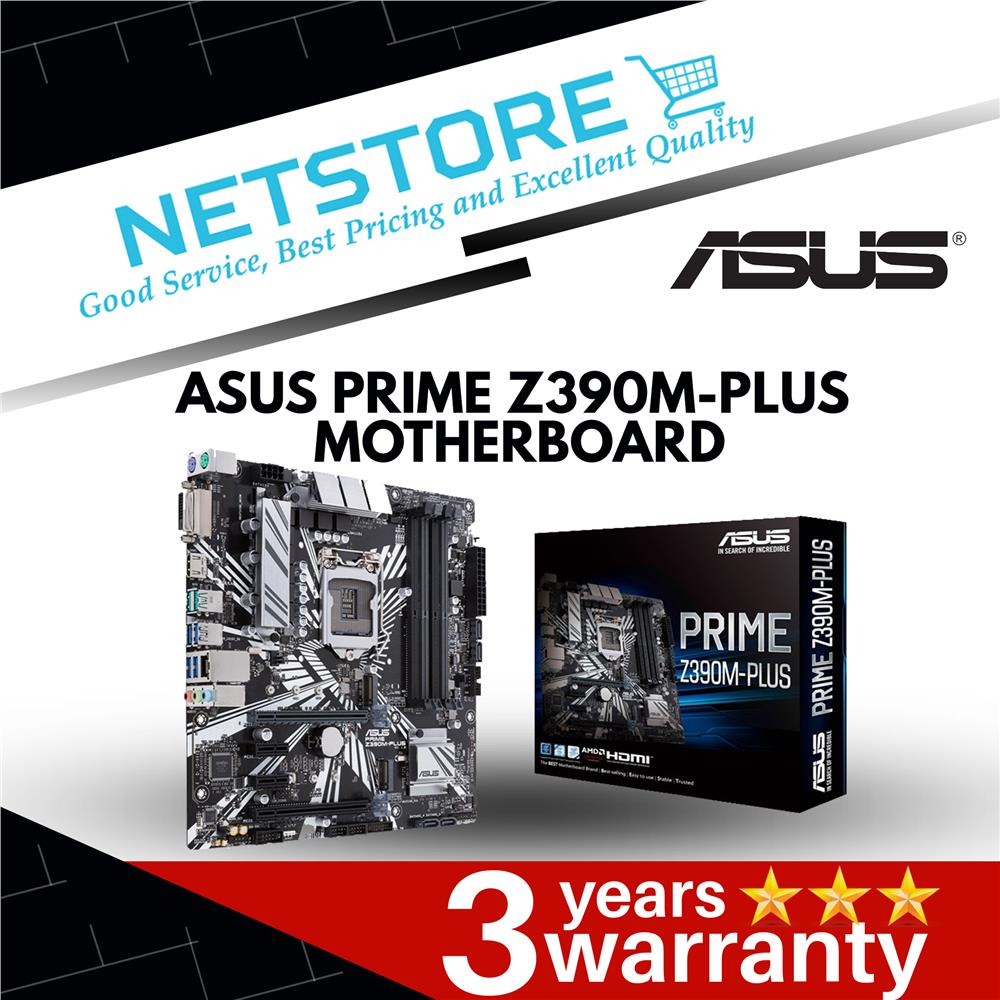 ASUS PRIME Z390M-PLUS Intel LGA 1151 mATX Motherboard with OptiMem II