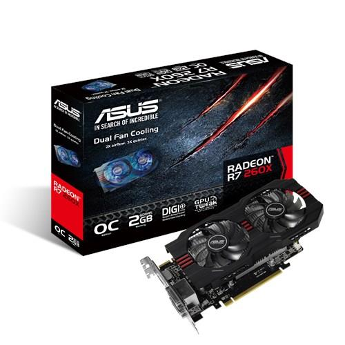 ASUS Redeon (R7260X-OC-2GD5) R7 260X 2GB GDDR5 PCIE Graphic Card