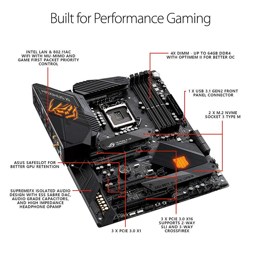 ASUS ROG Maximus XI Hero (Wi-Fi ) Call Of Duty Edition