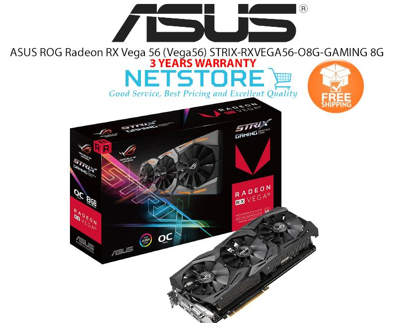 ASUS ROG Radeon RX Vega 56 (Vega56) ROG-STRIX-RXVEGA56-O8G-GAMING 8GB