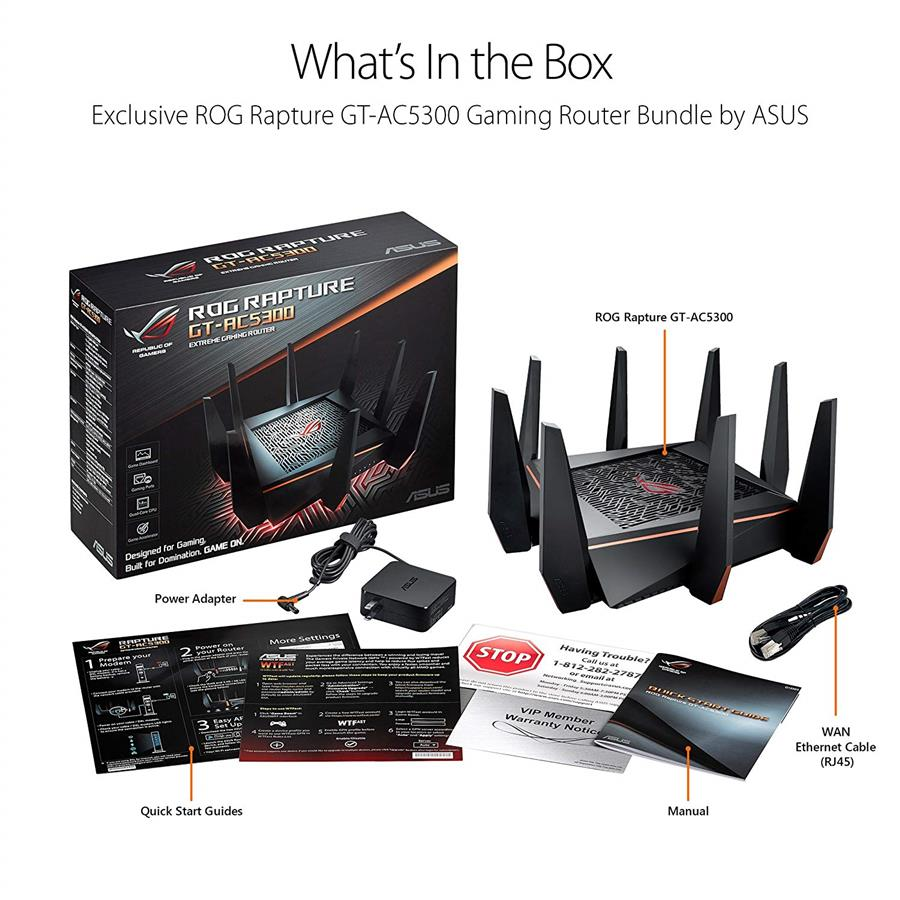 Asus ROG Rapture Tri-band WiFi Gaming Router (GT-AC5300)