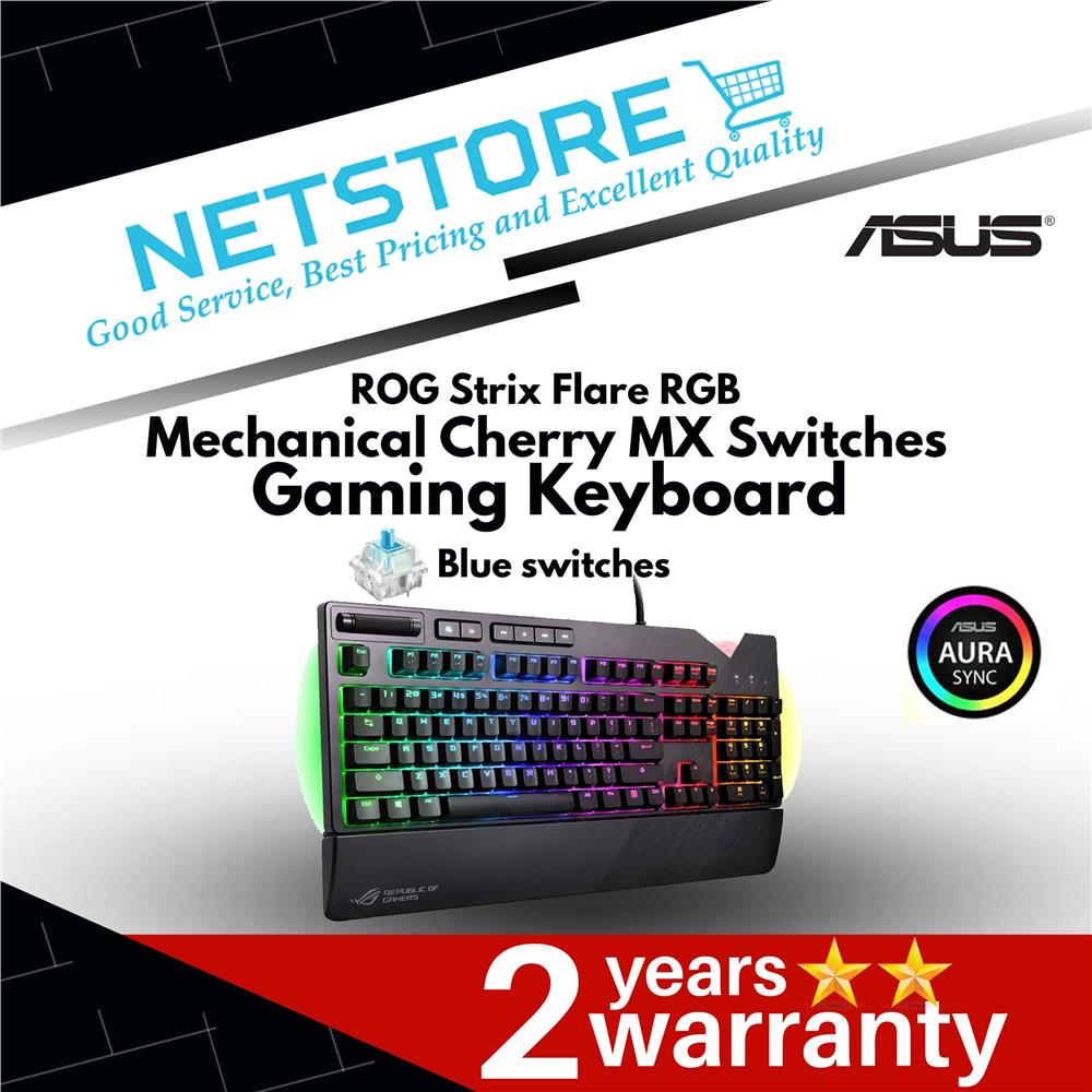 ASUS ROG Strix Flare RGB Mechanical Cherry MX Switches Gaming Keyboard