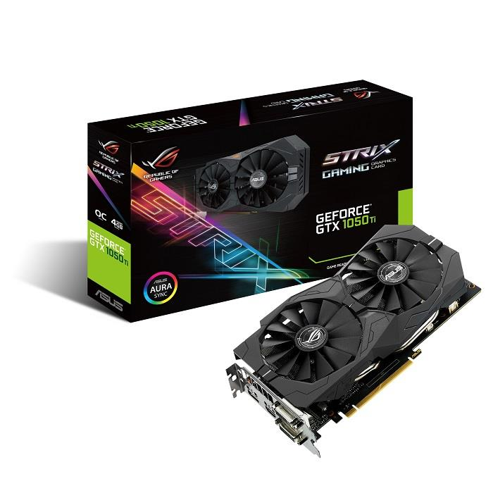 Asus ROG STRIX GTX1050TI OC 4GB DDR5 GAMING Graphics Card