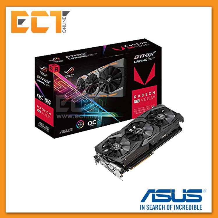 Asus ROG Strix RX VEGA56 OC Edition 8GB Graphics Card With Aura Sync R