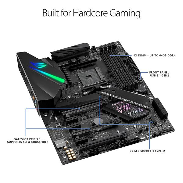 ASUS ROG Strix X470-F Gaming AMD Ryzen 2 AM4 ATX Motherboard